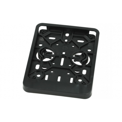Kentekenplaathouder Belgie 100x120mm - PVC - Zwart