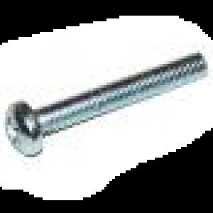 Cilinderschroef met bolkop en kruisgleuf M6x25 verzinkt