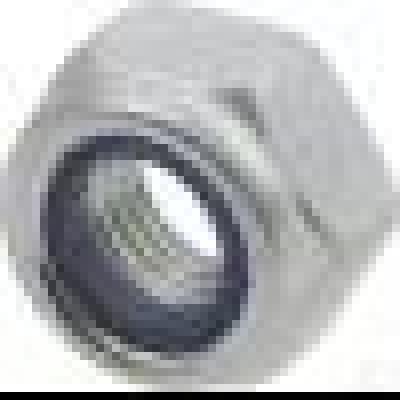 Borgmoer met kunststof ring M8 klasse 8 verzinkt