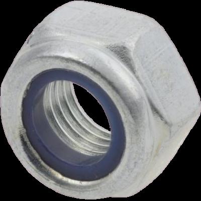 Borgmoer met kunststof ring M8x1 blok moer