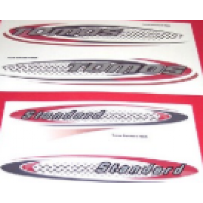 Sticker set Standard rood/zwart